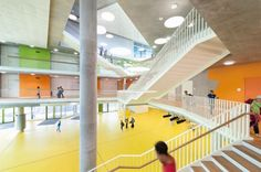 The New Ergolding Secondary School / Behnisch Architekten + Behnisch Architekten & Architekturbüro Leinhäupl + Neuber, School, Germany