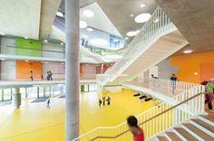 The New Ergolding Secondary School / Behnisch Architekten + Behnisch Architekten & Architekturbüro Leinhäupl + Neuber, School, Germany
