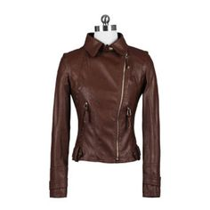 2012 Fall New Arrivals Slim Locomotive Short Style PU Leather Jacket Brown,Wendybox Faux Leather Jackets, Pu Leather, Locomotive, Slim, Fall, Brown, Inspiration, Style, Fashion