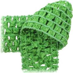 Crochet by the Yard - soft stretchy fabric, headbands- Apple Green