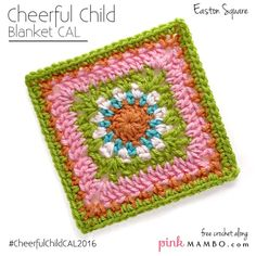 Easton Afghan Square Free Crochet Pattern from Pink Mambo