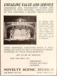 Fortway Theatre 6720 Fort Hamilton Parkway, Brooklyn, NY.  From Motion Picture News, November 4, 1927. #Bklyn, #NYC #Brooklyn #TheatreTalks