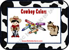 FREE Cowboy Colors Folder Game