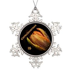Pracy Best Friend Snowflake Ornaments Consciousness IsOrange Tulip Flower Santa Decorations >>> This is an Amazon Affiliate link. Details can be found by clicking on the image.