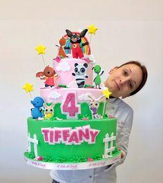 Bunny Birthday Cake, 2nd Birthday, Bing Cake, Dummy Cake, Bandy, Cupcake, Birthdays, Pasta, Homemade