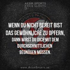 No risk, no fun. Wer extraordinär leben möchte, muss auch Extraordinäres vollbringen! Bist du dazu bereit? - www.AesirSports.de | #Zitat #Zitate #Erfolg #Gewöhnlich #Motivation #Inspiration