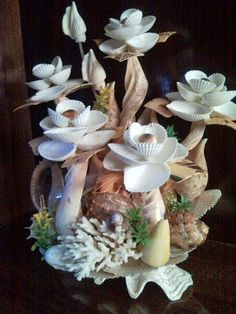Ideas for handmade – Crafts from sea shells pictures) Seashell Art, Seashell Crafts, Beach Crafts, Starfish, Stone Crafts, Rock Crafts, Seashell Projects, Driftwood Projects, Driftwood Art
