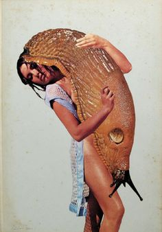 Javier Pinon Slug Love 2011 collage 11 5/16 x 7 7/8 inches $1800
