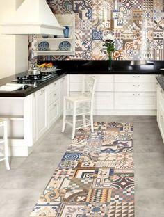 Lair Art Decor: Baldosas Hidráulicas en La Cocina. Tendencias.
