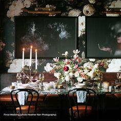 Dark Floral Wallpaper - by Ellie Cashman Design