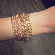 Mixed Gold Chain Bracelet Brand New                                                               Base Metals nickel and lead free                           **Price Firm *** unless bundled T&J Designs Jewelry Bracelets