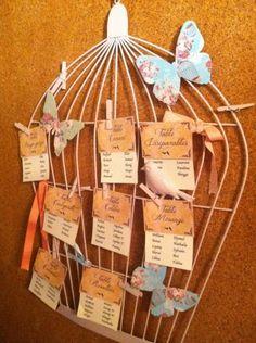 Cage oiseau gifi communion pinterest - Plan de table cage oiseau ...