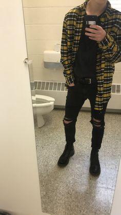 Instagram @davidgray_f Tomboy Outfits, Grunge Outfits, Cool Outfits, Casual Outfits, Fashion Outfits, Fashion Mode, Grunge Fashion, Moda Indie, Streetwear Fashion