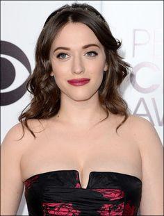 Kat Dennings #makeup how-to at 2014 People's Choice Awards #KatDennings #2BrokeGirls #celebrities