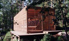 """Alvar Aalto's boat house for his boat """"Nemo Propheta in Patria"""" in Muuratsalo, Finland. Architects: Anne-Mette Krolmark and Claudia Schulz."""