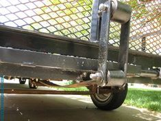 How to build a spring assisted trailer tailgate made from an old leaf spring and some scrap steel. Read more to see how we did it! Utv Trailers, Trailer Ramps, Work Trailer, Trailer Plans, Trailer Build, Custom Trailers, Trailer Dolly, Welding Trailer, Light Trailer