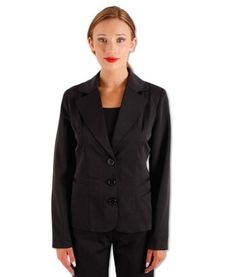 Emily Tailored Fitted Jacket – Black | redthread7.com.au