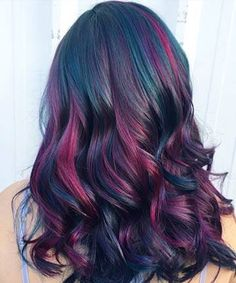 Hair concepts Oil Slick Hair Is the Most Beautiful Rainbow Hair Coloration Pattern for Brunettes A M Oil Slick Hair Color, Vivid Hair Color, Cool Hair Color, Vivid Colors, Blond Hairstyles, Slick Hairstyles, Pretty Hairstyles, Hair Color Balayage, Colored Hair