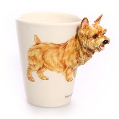 Blue Witch Ceramics: Norwich Terrier Mug, at 39% off!