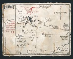Poster affiche The Hobbit Carte Lonely Mountain 25 x 20 cm