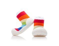 Detské topánočky ATTIPAS Rainbow White, XXL/XXXL - ATTIPAS