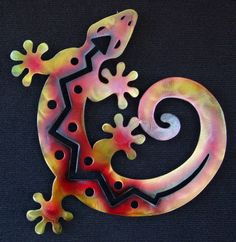 Gecko Lizard Metal Wall Hanging Southwest Art C by ChrisCrooks, $40.00