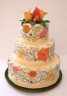 painted wedding cake 3 by bridetide, via Flickr