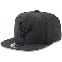 Houston Texans New Era Total Tone Snap 9FIFTY Adjustable Hat - Heathered  Black 73bcb8613f12