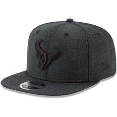 Houston Texans New Era Total Tone Snap 9FIFTY Adjustable Hat - Heathered  Black 73bcb8613f12