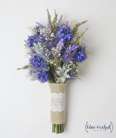 Wildflower Bouquet Lavender Bouquet Bridal by blueorchidcreations