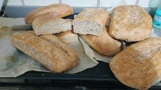 [1280x720 OC] Homemade bread with wholemeal flour and sesame seeds