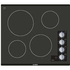 This Bosch 500 Series electric cooktop features infinite temperature controls for precision cooking, a powerful element for faster boil times, and a heat indicator that warns if the cooktop is warm or hot. Slate Appliances, Bosch Appliances, Vintage Appliances, Red Leather Couches, Blender Tutorial, Appliance Sale, Electric Cooktop, Wood Joinery, Photoshop