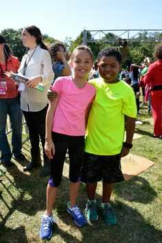 Breanna Yde and Benjamin Lil P-NUT Flores Jr. - Nickelodeon's 10th Annual Worldwide Day of Play Activities at Prospect Park