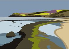 Yorkshire art at it's best, inspired by Yorkshire's beauty. Read all about the the wonderful works of Yorkshire Artist Ian Mitchell Landscape Drawings, Landscape Illustration, Landscape Art, Landscape Paintings, Linocut Prints, Art Prints, Block Prints, Gravure Illustration, Contemporary Landscape