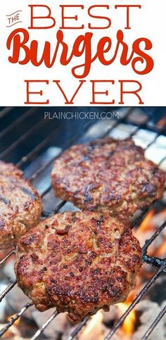 Best Burgers EVER! - these are hands down the best burgers I've ever eaten! Hamburger, on The Best Burger, Best Burger Recipe, Good Burger, Best Recipe For Grilled Hamburgers, Best Cheese For Burgers, Grilling Recipes, Beef Recipes, Cooking Recipes, Barbecue Recipes
