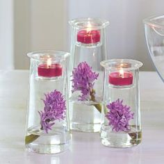 Beatiful Trio Customizable Candle Holders decor decorating home house