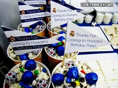 Soccer party favors snacks
