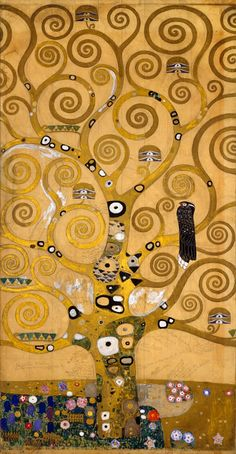 off Hand made oil painting reproduction of Tree of Life, one of the most famous paintings by Gustav Klimt. Gustav Klimt's Tree of Life from the Stoclet Frieze is a triumph of art nouveau style and substance, unifying the allegories of the Symbolist m. Gustav Klimt, Art Klimt, Tatoo Tree, Art Plastique, Tree Art, Famous Artists, Oeuvre D'art, Vincent Van Gogh, Art Lessons