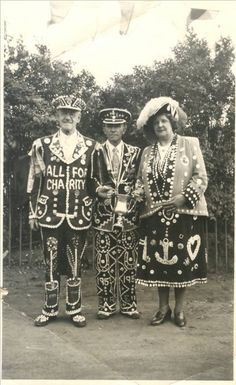 Victorian Pearly Kings and Queens.
