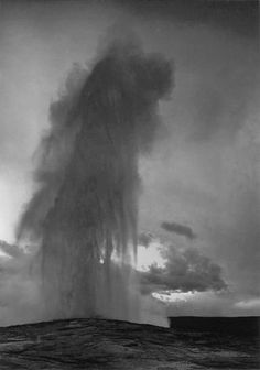 Ansel Adams Old Faithful Geyser, Yellowstone National Park 1942