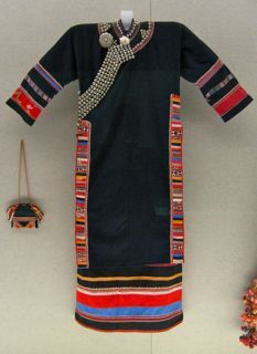 Woman's garment with applique design and silver adornments. Lahu ethnic group. 2nd. half 20th Century.