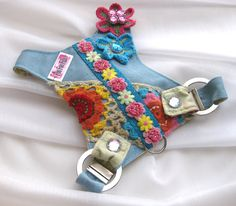 Dog Harness  Janice Hippie Chic by FooFooFido on Etsy, $70.00