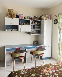 Colorful study table for the kid's bedroom. The Fancy Feast-Colorful study table for the kid's bedroom. The Fancy Feast for children's room…. Colorful study table for the kid's bedroom. The Fancy Feast for children's room…. Bedroom Cupboard Designs, Wardrobe Design Bedroom, Kids Bedroom Designs, Bedroom Furniture Design, Home Decor Furniture, Bedroom Decor, Bedroom Ideas, Ikea Bedroom, Nursery Ideas