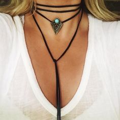 Leather Turquoise Wrap