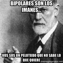 Bipolares son los imanes... vos sos un pelotudo que no sabe lo que quiere