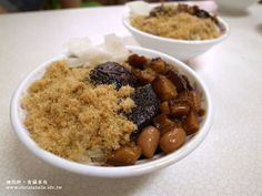 Tainan Migao - sticky rice with mushroom, peanuts, braised minced pork, and fish floss. #Taiwanese cuisine 台南 榮盛米糕