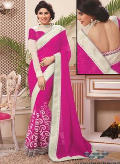 Fentastic Magenta Net Designer Saree Is Design With Embroidery Booti Work.Available With Unstitched Blouse That Can Be Custumized As Per Style And Pattern.(Slight Color Variation May Be Possible) Designer Sarees Collection, Designer Sarees Online, Saree Collection, Lehenga Saree, Georgette Sarees, Two Piece Long Dress, New Saree Designs, Long Skirt Fashion, Simple Sarees
