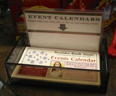 Invite them back by making sure everyone gets an event calendar or other store promotional materials.