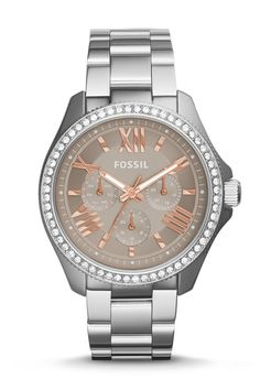 #Fossil Cecile Multifunction Stainless Steel Watch #fossilstyle