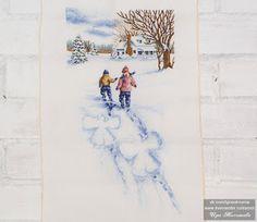 Чудотворчество: Снежные ангелы (Дименшенс) Blog, Painting, Art, Painting Art, Blogging, Paintings, Kunst, Paint, Draw